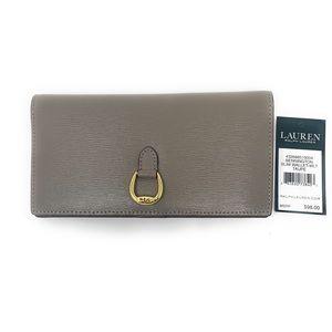 Ralph Lauren Bennington Slim Wallet NWT Taupe